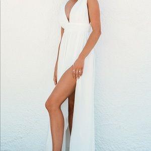 Lulus Heavenly Hues White Maxi Dress